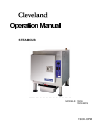Cleveland 1SCE Electric Steamer Operation manual (30 pages)