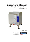 Cleveland 1SCE Electric Steamer Operator's manual (11 pages)