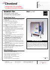 Cleveland 1SCE Kitchen Appliance Specifications (2 pages)