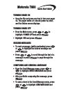 Motorola Talkabout T900 Pager Quick start manual (4 pages)