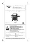 Argos THG3208 Grill Assembly and operating instructions manual (18 pages)