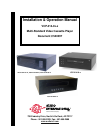 Audio international VCP-014-01-x VCR Installation & operation manual (22 pages)