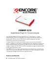 Encore ENMMP-X210 TV Specifications (4 pages)
