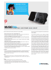 Freecom MusicPal MP3 Player Datasheet (2 pages)