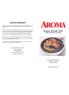 Aroma AHG-1460 Grill Instruction manual & recipe manual (6 pages)