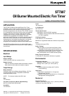 Honeywell ST7997 Burner Installation instructions manual (8 pages)
