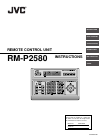 JVC RM-P2580 Security Camera Instructions manual (35 pages)