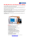 August MB300 MP3 Player Specification (1 pages)