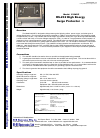 B&B Electronics 232HSP Surge Protector Product information (2 pages)
