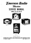 Emerson 614 TV Service manual (32 pages)