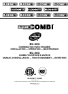 Blodgett BC-20G Electric Steamer Installation, operation and maintenance manual (74 pages)