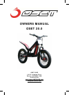 oset 20.0 Bicycle Owner's manual (40 pages)